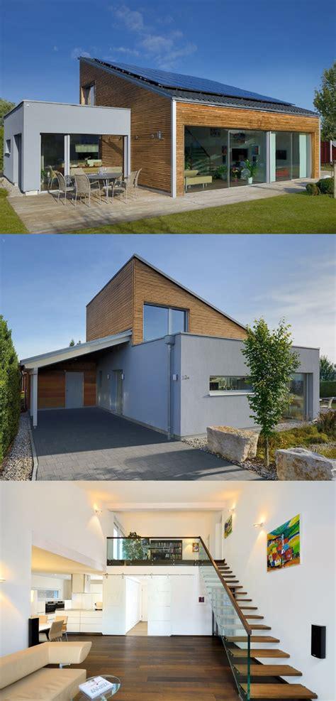 Holz Fertighaus Bungalow by Moderner Bungalow Mit Pultdach Haus Ederer Baufritz