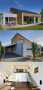 Bungalow Mit Garage Bauen : moderner bungalow mit pultdach haus ederer von baufritz ~ Lizthompson.info Haus und Dekorationen