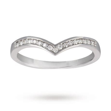 diamond set ladies wishbone wedding ring in 9 carat white