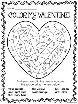 valentines day activity color  valentine  lizs early learning spot