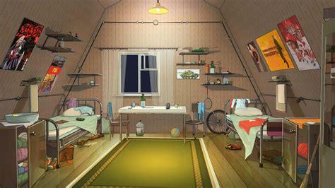 Anime Room Wallpaper - 1920x1080 anime room beds artwork light