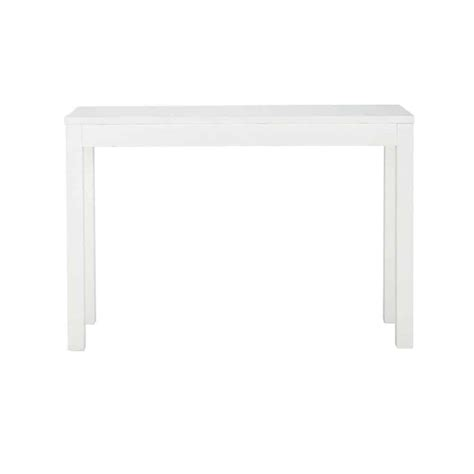white wood console table solid wood console table in white w 120cm white maisons