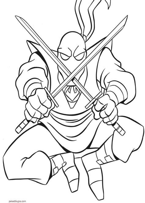 Dibujos de tortugas Ninja para colorear