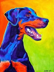 Pintura Moderna y Fotografía Artística : Cuadros y Retratos de Perros al Óleo (Arte Pop)