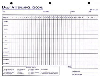 employee attendance sheet excel  tracker system