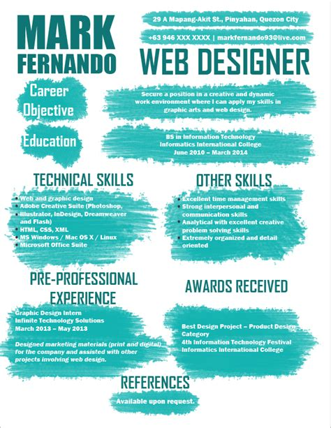 resume templates you can jobstreet philippines