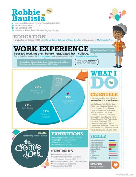 best graphic design resumes 2013 50 creative resume design sles that will make you rethink your cv