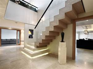 Décoration D Escalier Intérieur : rampe d 39 escalier 59 suggestions de style moderne ~ Nature-et-papiers.com Idées de Décoration