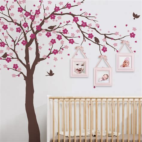 stickers pour chambre de bebe cherry blossom tree decal style