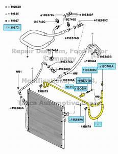 New Oem Ac Compressor To Condenser Hose 2004