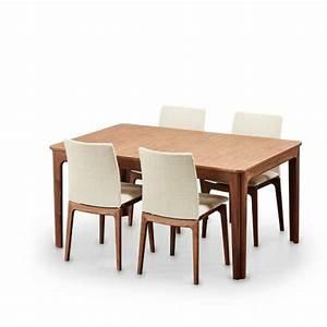 Table Avec 4 Chaises : table design en bois avec allonges 4 pieds tables chaises et tabourets ~ Teatrodelosmanantiales.com Idées de Décoration
