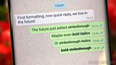 android format whatsapp text formatting rolls out including bold