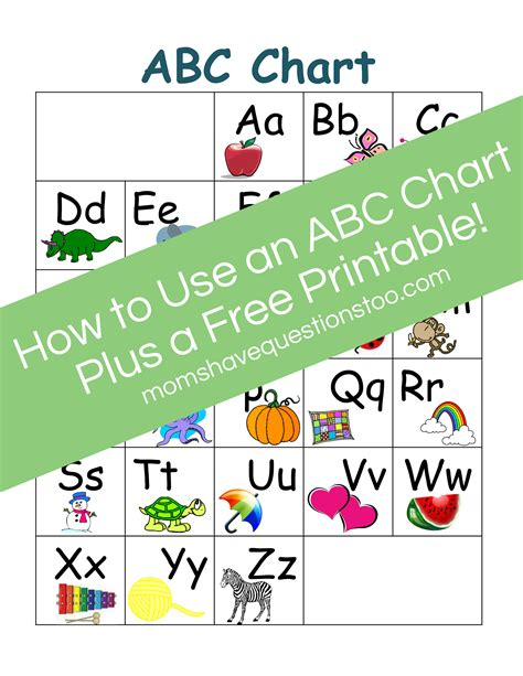 abc chart part 2 preschool questions 924 | ABC Chart2