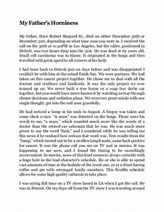 my essay my father s horniness essay by dax shepard