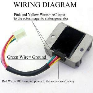 4 wire full wave motorcycle regulator rectifier 12v dc bike scooter 714131820863 ebay