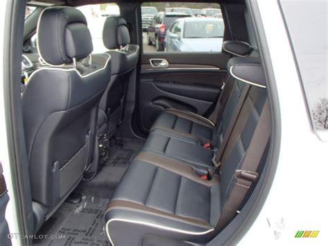 jeep blue interior 2014 bright white jeep grand cherokee overland 4x4