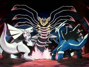 Pokemon Giratina Vs. Palkia and Dialga - YouTube
