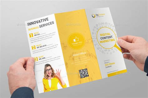 content marketing tri fold brochure  kitcreative