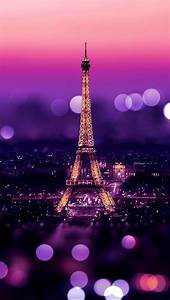 Eiffel Tower Night Bokeh Lights iPhone 5 Wallpaper ...