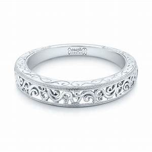 custom hand engraved filigree wedding band 103341 With wedding rings filigree womens