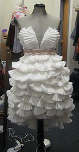 Dress I Made Out Of Coffee Filters For One Of My Classes