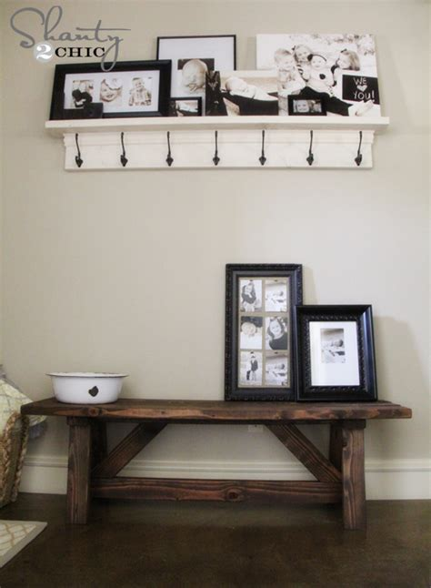 front entry bench diy bench for the entryway 15 shanty 2 chic