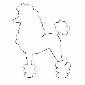 Free poodle coloring pages az coloring pages for Poodle applique template