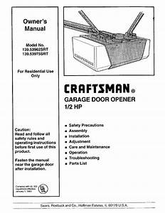Craftsman 1 2 Hp Garage Door Opener Manual 41a4315 7d