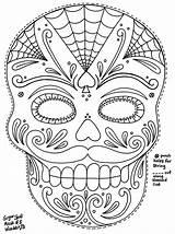 Coloring Pages Skull Sugar Mask Masks Moustached Wenchkin Dead Printable Template Skulls Colouring Colour Sheets Muertos Dia Los Printables Calavera sketch template