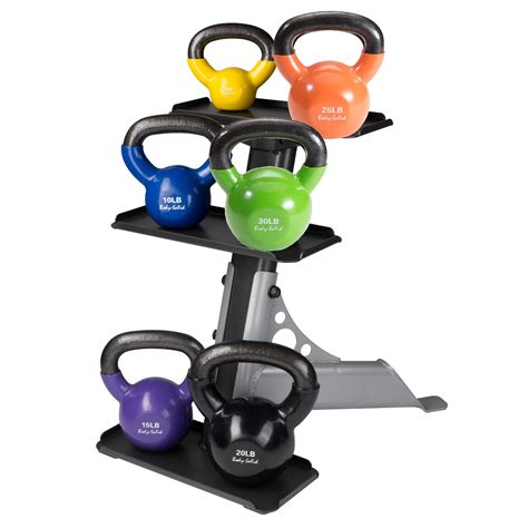 vinyl body solid pack kettlebell kettle bell rack spin sears iron