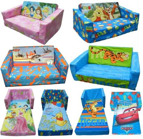 disney character childrens flip out foam sofa