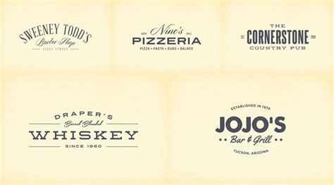 vintage logo badge template collections