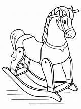 Coloring Pau Horse Rocking Toy Cavalinho Animal Colorear Colorir Desenhos Colouring Madera Hobbelpaard Caballo Caballos Toys Kleurplaten Printable Horses Template sketch template