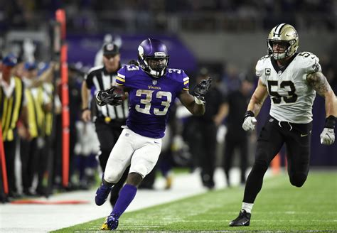 dalvin cook plays key role  vikings cruise  saints