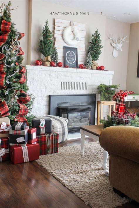 como decorar la sala en navidad  casa de campo