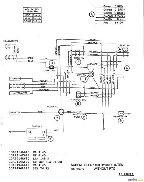 Mtd Riding Mower Wiring Diagram With Yard Machine