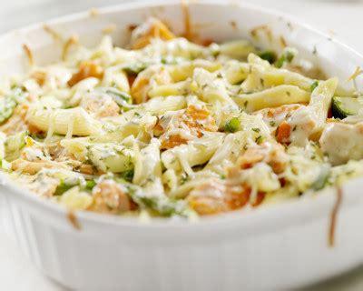 recette gratin de pates saumon  brocolis