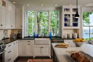 Kitchen Islands With Columns Cottage Style Kitchen Portland Maine By Whitten Architects