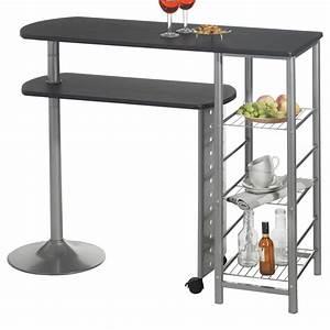 Bar Mange Debout : table haute de bar mange debout mdf 2 coloris disponibles ~ Teatrodelosmanantiales.com Idées de Décoration