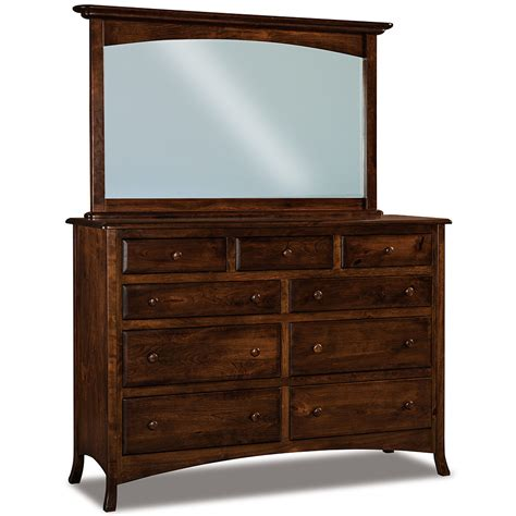 chest of drawers with mirror chest of drawers 9 drawer dresser with optional beveled
