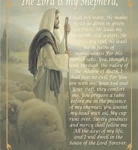 The Lord Is My Shepherd Prayer Poem