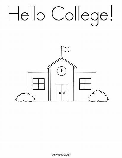 Coloring College Hello Ll
