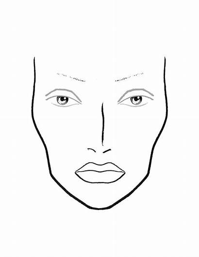 Makeup Face Template Chart Blank Charts Coloring