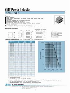 Smt Power Inductor Sia3223 Manuals