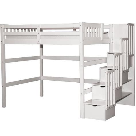 white wood size loft bed plan stairway loft bed white scanica