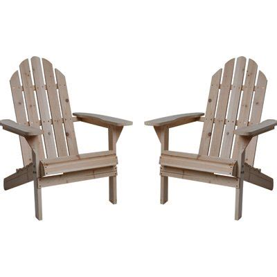 fir wood unfinished adirondack chairs pack www