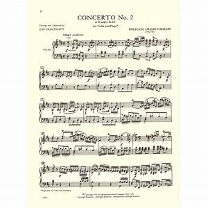 Mozart, WA - Concerto No 2 In D Major, K 211 - Violin and ...