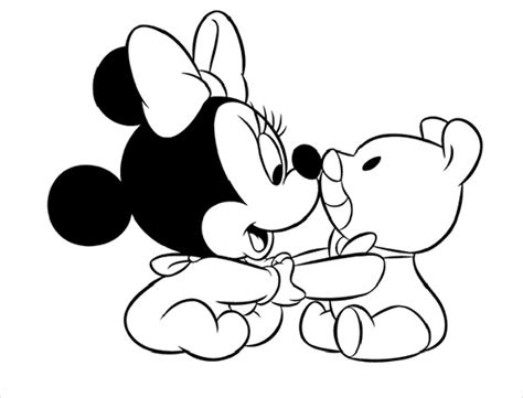 Kleurplaat Minnie Mouse Baby by 9 Minnie Mouse Coloring Pages Psd Jpg Gif Free