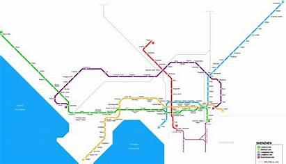 Shenzhen Metro Map Subway English Stations Shopping
