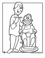 Dental Coloring Pages Hygiene Health Sheets Dentist sketch template